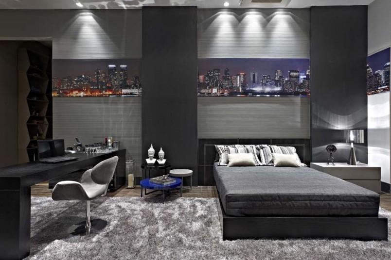 decoração cinza