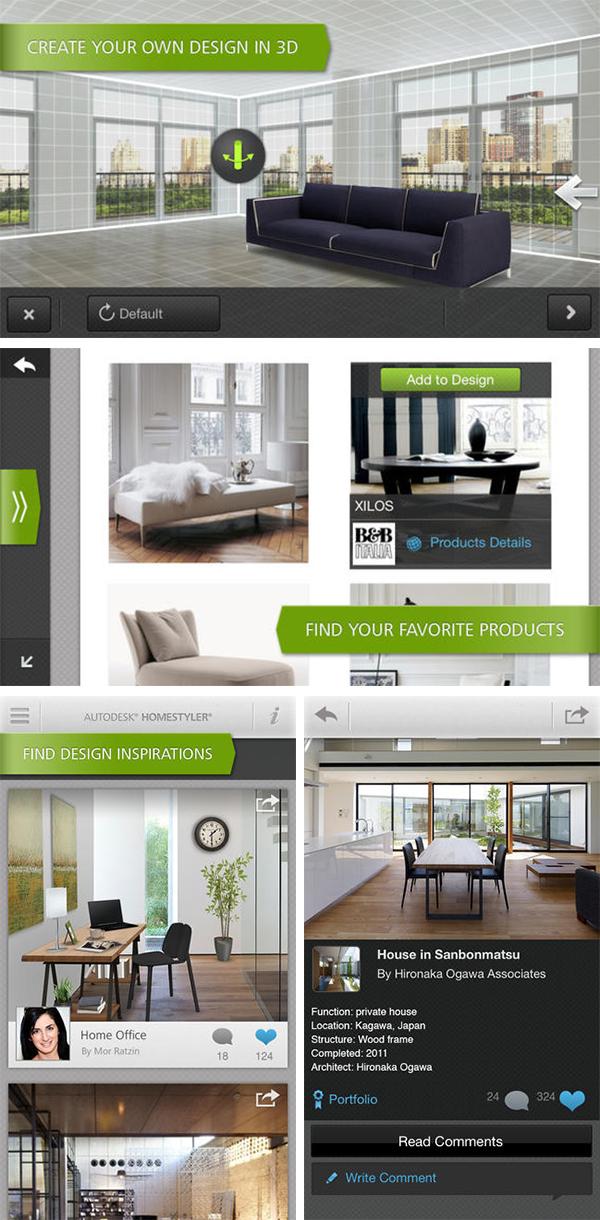 AutoDesk Homestyler app decoração