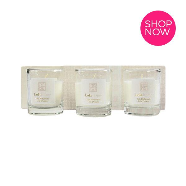 Ideias de presente de natal - Caixa com três velas perfumadas