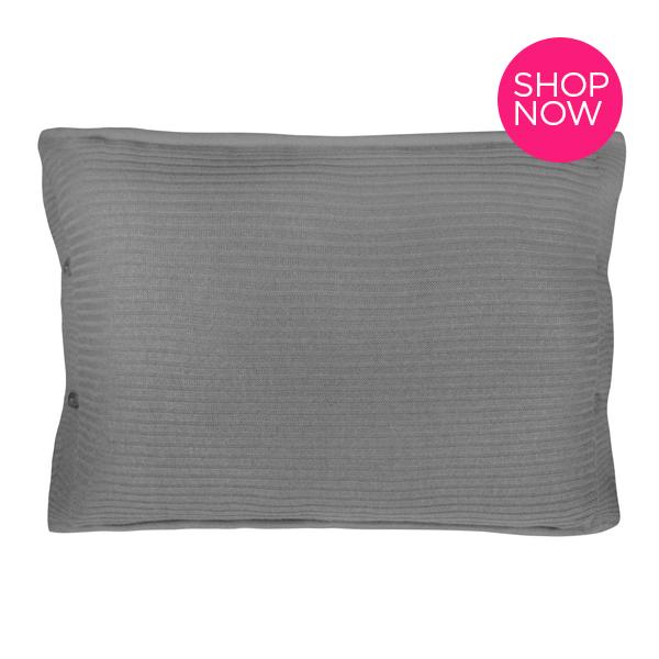 Ideias para presentes de natal - Porta travesseiro Tricot Canelado