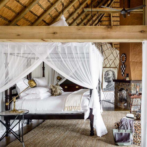 O décor exótico e luxuoso do hotel Singita Ebony Lodge, no coração da África do Sul