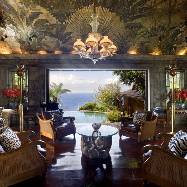 inspiração de décor exotico mansão de david bowie animal print no décor foto mandalay estate 1