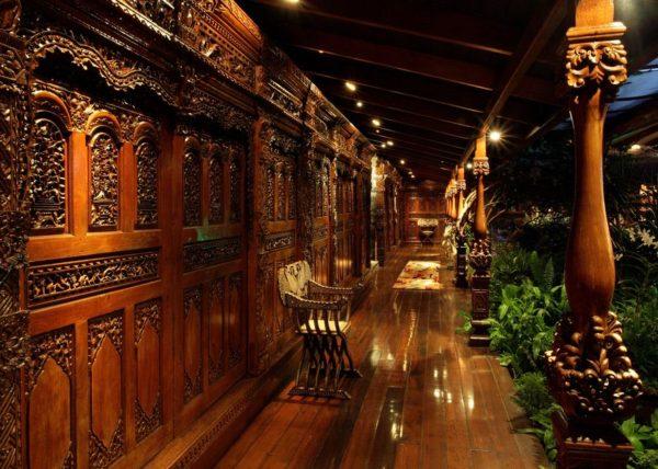 inspiração de décor exotico mansão de david bowie animal print no décor foto mandalay estate 111