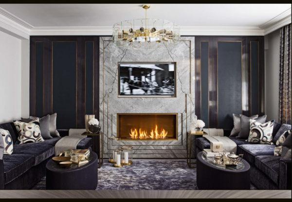 Lareiras aconchegantes para o inverno - Inspiração de décor para living com larareira 10