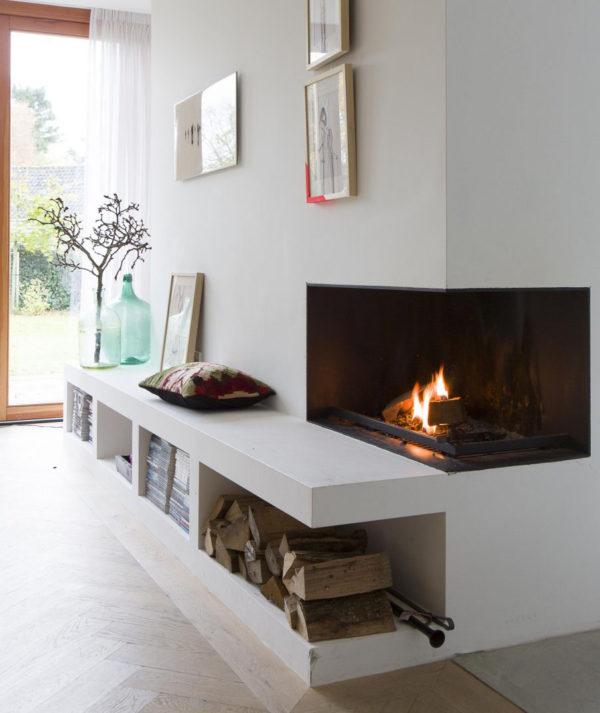 Lareiras aconchegantes para o inverno - Inspiração de décor para living com larareira 2