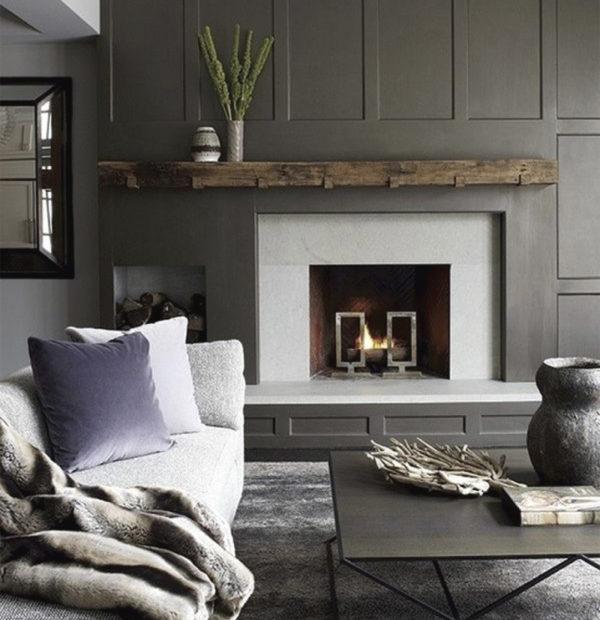 Lareiras aconchegantes para o inverno - Inspiração de décor para living com larareira 7