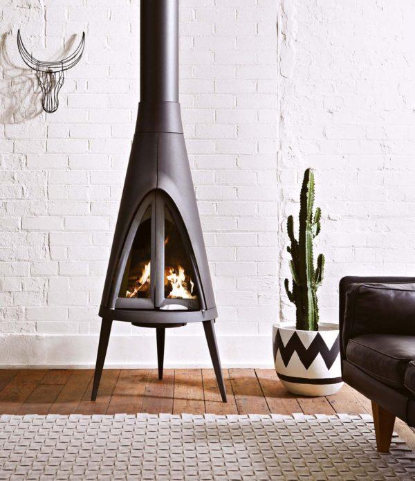 Lareiras aconchegantes para o inverno - Inspiração de décor para living com larareira 9