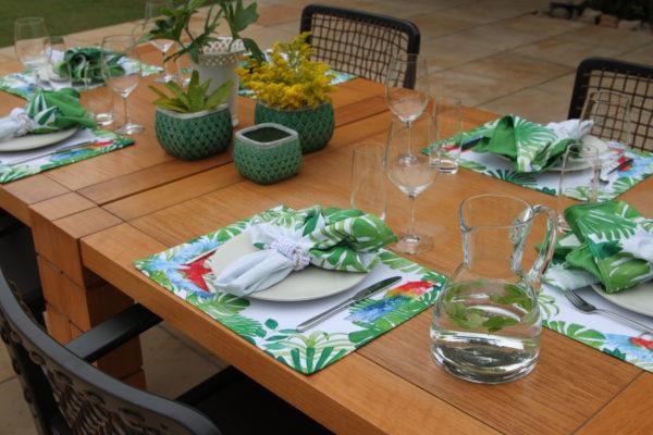 Mesa Posta Coleção Birds Primavera Verão