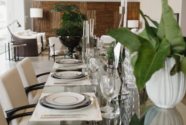 mesa para almoço