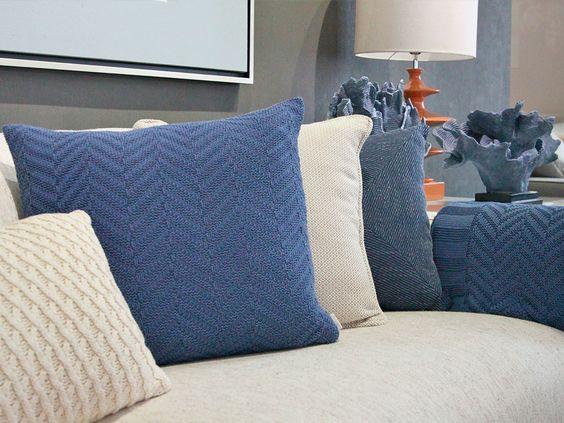 decoração em azul índigo