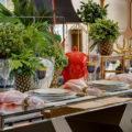 decoração de mesa coral