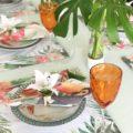 mesa para almoço tropical