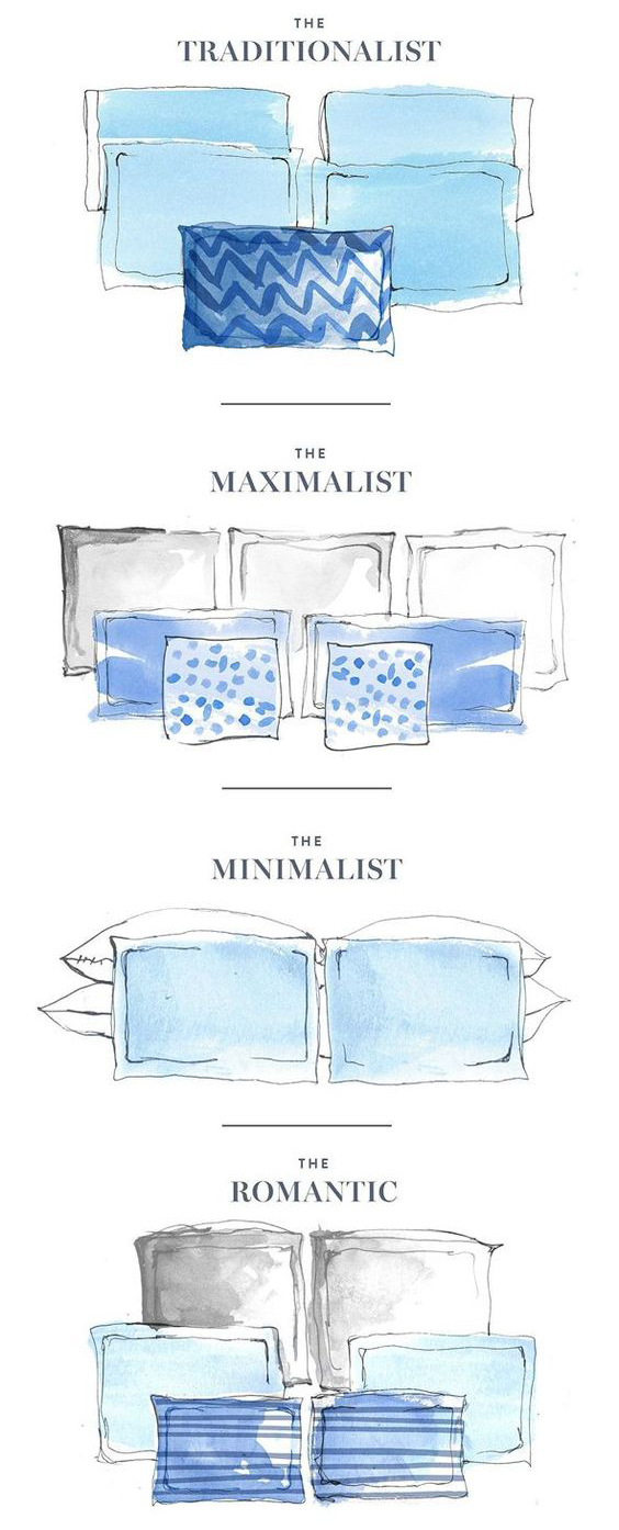 organizar suas almofadas