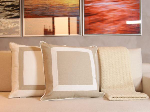 almofadas contemporâneas