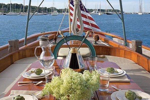 decoração de barco