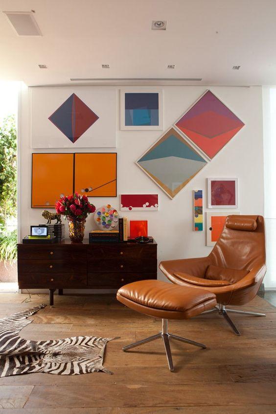 decoração modernista